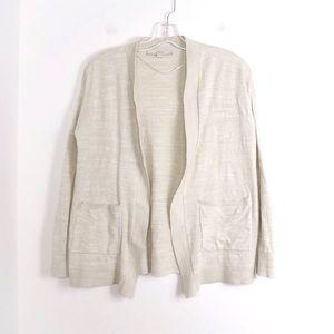 Ann Taylor LOFT open front pockets cotton knit euc